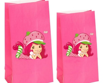 Strawberry Shortcake Party Favor gift Bags~ Strawberry shortcake birthday Party Inspired Decorations & Decor