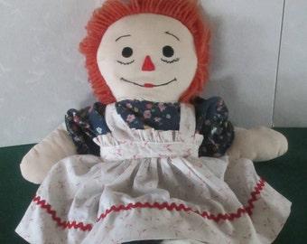 Raggedy Ann Doll 22 inches 1960's vintage