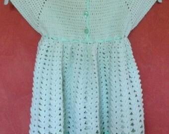 Crochet baby dress, size 12 months