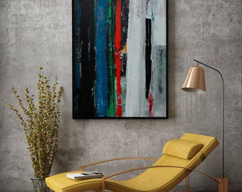 Painting, Abstract Art, Acrylic Painting, Wall Art, Large Abstract Art, Large Painting, Acrylic Art, Wall Deco, Art, Stretched Canvas,