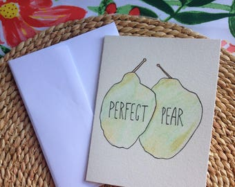 Handcrafted Card/ perfect pear