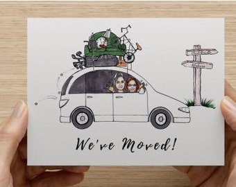 CUSTOM MOVING ANNOUNCEMENT, Moving Card, Moving Announcement Postcard, Moving Announcement Printable, Moving Postcard, Moving Cards