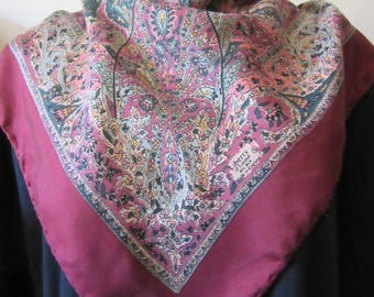 LIBERTY of LONDON Paisley design vintage silk twill scarf 68 x 68 cm good condition