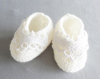 baby 3 months for baptism or wedding shoes