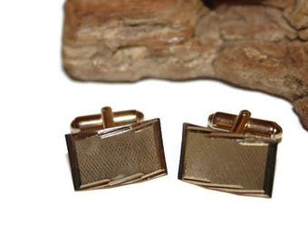 Designer Cufflinks, Anson cufflinks, anson cuff links, Gold Cuff Links, Rectangle Cufflinks, Mens Accessories, Mens Jewelry, Gift for Him