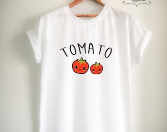 Vegan Shirt Vegan T Shirt Tomato Shirt Tomato T Shirt Vegan Merch Women Girls Men Tumblr Vegetarian Top Tee White/Grey/Black/Burgundy/Navy