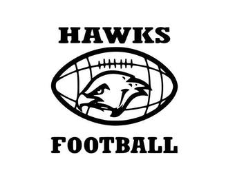 Hawks Football high school college SVG File Cutting, DXF, EPS design, cutting files for Silhouette Studio and Cricut Design space