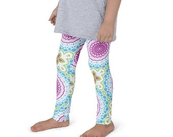 Leggings for Children, Girls Leggings, Pink and Blue Yoga Pants for Kids