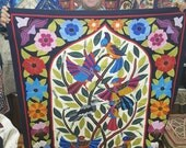 Tarek Al Safty, Gorgeous Floral Beautiful Birds design Multi Colors,  Master piece by Tentmakers of Cairo.
