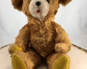 Vintage Antique Teddy Bear, Herman Pecker & Co. Japan, Mohair Teddy Bear, Stuffed Animals, Stuffed Bear, Moveable Arms And Legs
