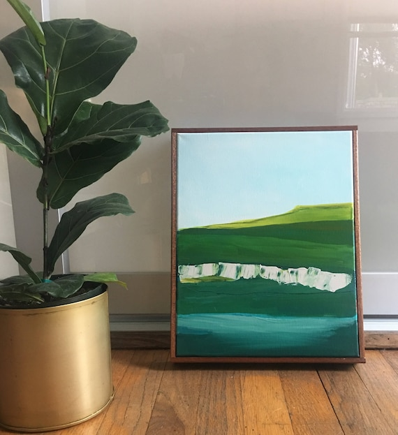 Framed Original Landscape Painting Abstract