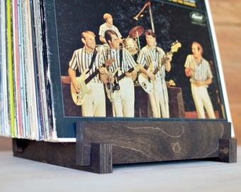 "Vinyl LP Record Storage Display | 12"" Vinyl Album Storage | Vinyl Record Holder | Zero-VOC Natural Finish"