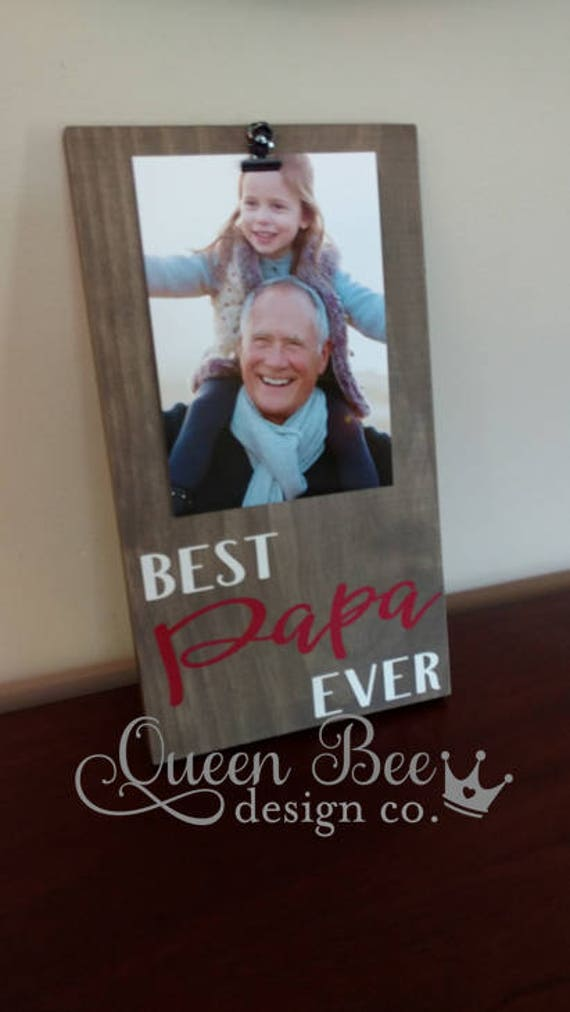 Best Papa Ever Picture Frame.Papa Frame.Picture