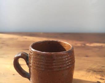 Minature Glazed Earthenware Tankard
