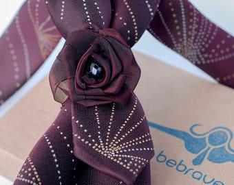 Burgundy Colour Ladies Necktie, Necklaces, Women ties, Neckwear, Wedding Gifts