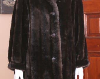 Faux mink coat | Etsy