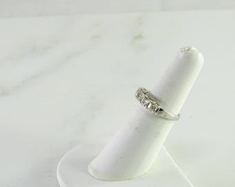 Size 6 Sterling Stack Ring cz's