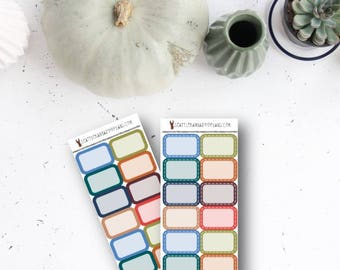 FULL-ON FALL Functional Half Boxes (12 Planner Stickers) || SeattleKangarooPlans