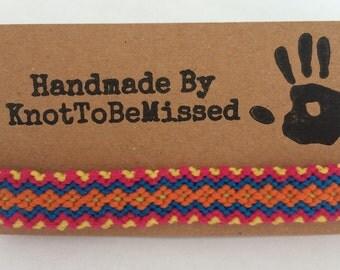 Handmade Children's Woven Macrame Diamond Friendship Bracelet
