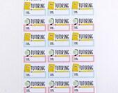 Tutoring Planner Stickers   Student Planning Stickers   Back To School Planner Stickers