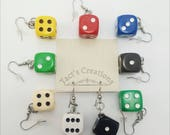 Dice Earrings - Board Game Jewelry, Dice Jewelry, Board Game Earrings, Geeky gifts, Nerdy, Board Game Geek