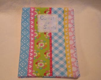 protects health record pastel pattern hearts, flowers and Plaid
