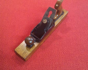 """Antique Hand Plane Transitional Wood Plane Union MFG Co. No 537 15"""" Wood Steel & Brass Old Carpenters Tool"""