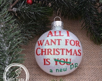 New PR for Christmas Ornament || Personalized Running Ornament || Runner Christmas Ornament