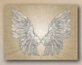 Glittery Angel Wings Canvas Print