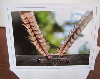 Photo Greeting Card   Handmade Card   Photo Note Card   Original Photography   Feathers