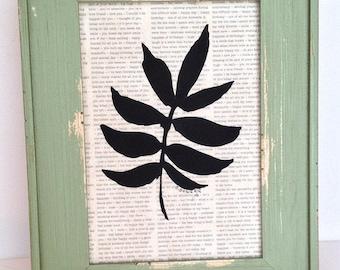 1 Botanical HAND-CUT SILHOUETTE
