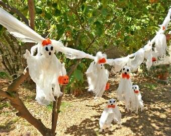 halloween garland halloween banner halloween ghost halloween party decor spooky scary halloween