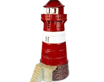 Handmade ceramic lighthouse candle holder - Mokkalasset