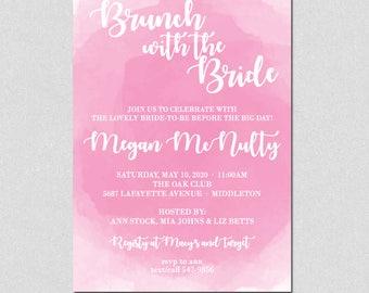 Printable Brunch with the bride, Printable Bridal Shower Invitation, Printable Brunch Party Invitation, Bridal Shower Invite, Printable