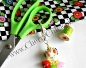 Scissor Fob - Planner Charm - Gift for Quilter - Purse Charm - Beaded Zipper Pull - Gift for Seamstress - Sewing Accessory - Yoga Charm