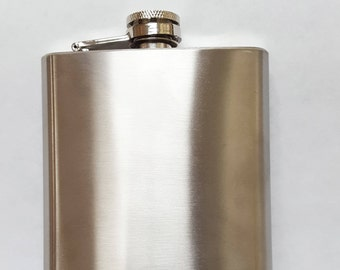 8 oz. Stainless Steel Flask High Quality add on with your scarf purchase