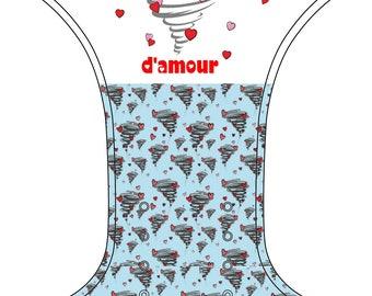 PRE order - Cloth diaper Pocket - one size - tornado of love