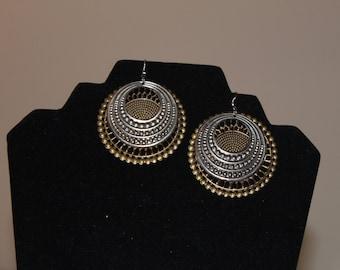 Metal Mandala Earrings