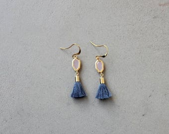 Arielle purple and gold earrings