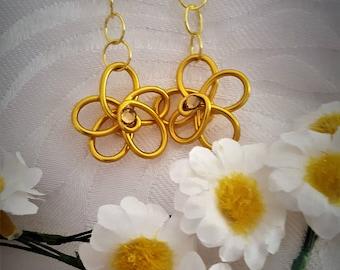 flower shape earrings in aluminum