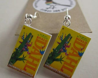 """The Enormous Crocodile Book Earrings from """"The Earring Library"""""""