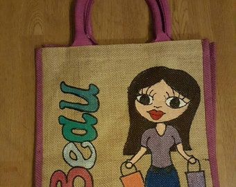Personalised large jute bags