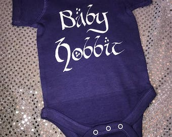 Lord of the Rings Style Baby Hobbit Personalized Baby Onesie