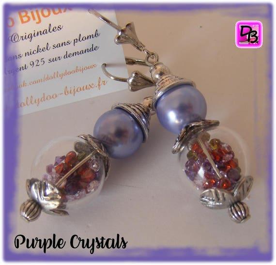 Boucles d'oreilles [Purple Crystals]