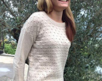 Hand-knitted 100% cashmere cardigan made in Switzerland