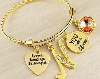 Gold Speech Language Pathologist Gift Gift for Speech Language Pathologist Graduation Gift School Speech Language Pathologist Gift