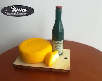 Miniature cheese arrangement, 1:12 scale