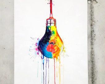 """Originale Malerei von Buttafly ( Vanessa Brünsing ) - """"Shine Bright"""" - 2017 - 60 cm x 80 cm - Kunstwerk"""