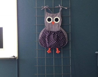 Pajamas/toys bag OWL pink or purple