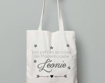 Tote bag personalized stars and arrows